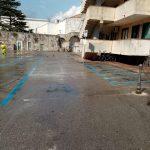 taglio pulizia piazza mercato maiori