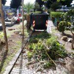Maiori Manutenzione Cimitero dopo il forte vento di domenica