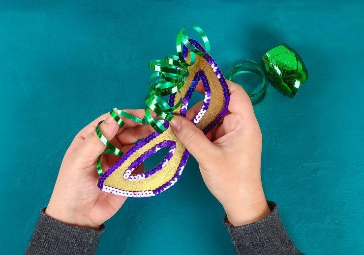 Diy Masquerade mask Mardi Gras, Fat Tuesday.