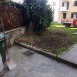 Taglio, spazzamento e pulizia presso palazzine in via G. Capone