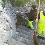 Taglio e spazzamento in località Petrito