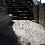 taglio e spazzamento in Via Castello