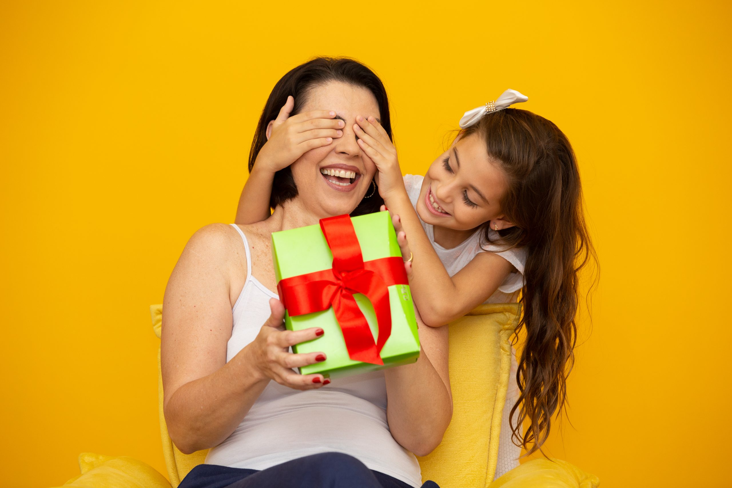 Mothers day with gift box surprise