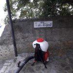 Sanificazione in via Noce, via Liscia, via Petingolo, via Lecina e via dei Naviganti