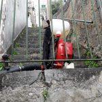 Sanificazione via degli Amodei, via Vetrina, via Sant'Angelo e via San Michele