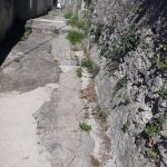 Taglio e spazzamento in via Lecina