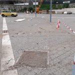 Spazzamento e pulizia straordinaria dopo smontaggio tendo-struttura nel porto turistico