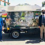 Consegnato nuovo automezzo per la raccolta rifiuti con serigrafia del Comune di Conca dei Marini
