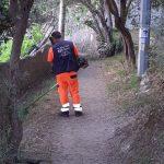 Taglio e spazzamento presso Sentiero dei Limoni