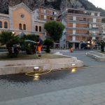 Taglio e piantumazione più irrigazione presso villa comunale, porto turistico e lungomare Maiori