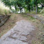 Tramonti taglio e spazzamento presso frazione Campinola