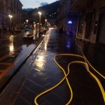 Lavaggio stradale presso Corso Reghinna e Piazza Mercato Maiori
