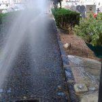 Lavaggio viali Cimitero Comunale Maiori