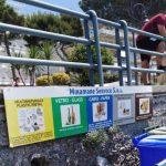 Manutenzione e installazione cartellonistica spiaggia per raccolta differenziata Maiori