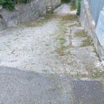 Tramonti fraz Gete taglio e spazzamento dalle case popolari fino all'ingresso di Pendolo