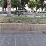 Maiori Taglio aiuola monumento ai caduti e via Cristoforo Colombo