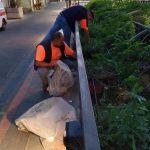 Maiori pulizia vasi presso corso Reghinna