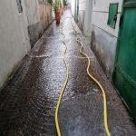 Minori lavaggio e sanificazione vicolo Santa Lucia 4