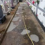 Pulizia e lavaggio presso Cimitero Comunale Maiori