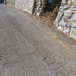 Taglio e spazzamento in Via Campanile, Frazione Figlino Tramonti