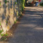 Tramonti pulizia presso via Fontaniello, Pietre