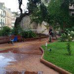 Maiori Lavaggio e manutenzione verde Villa Comunale ed edificio scolastico in Via Capitolo