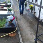 Maiori spazzamento e lavaggio cimitero comunale